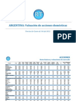 Valuacion de Empresas Mercado de Valores Buenos Aires