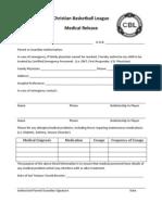 WNYCBL Medical Release Form