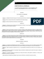 Constitución de la Republica Oriental del Uruguay