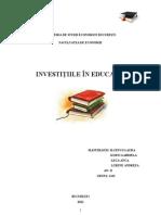 Investitiile in Educatie