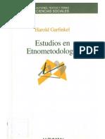 Harold Garfinkel - Estudios en Etnometodología.