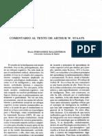 Comentario de Rocío Fernández-Ballesteros a la teoría de A. W. Staats sobre inteligencia