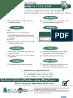 Alabama Checklist for Homeowner 6-23