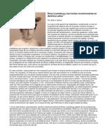 Rosa Luxemburgo y las luchas revolucionarias en  América Latina