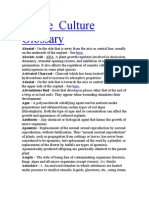 Glossary of Tissue Culture
