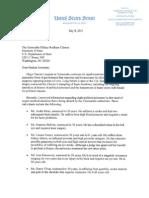 Carta del Senador Marco Rubio por los presos politicos a la secretaria de estado Hillaty Clinton