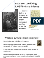 Presentation on A.L. Ewing, 63rd Indiana Infantry