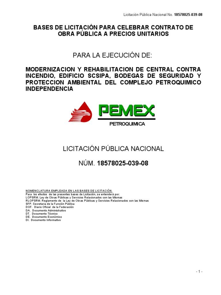Catalogo de Conceptos Tipo Pemex