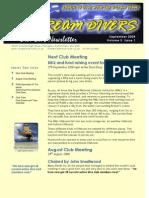 Dream Divers September 2008 Newsletter