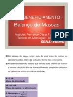 Balanço de massas - Beneficiamento