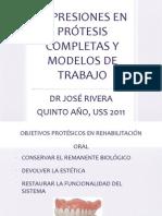 Impresiones en Protesis Completas y Modelos de Trabajo