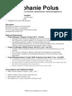 Project Management Resume 2012
