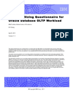 Oracle DB - OLTP New Sizing Questionnaire 11.1