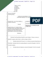 310-Cv-03647-WHA Docket 48 Stephen Thomas - Answer to Complaint