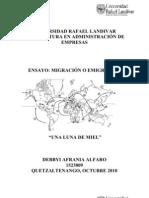 Ensayo Migracion Debbyi Alfaro