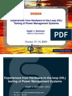 HIL Testing of PMS