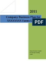 Business Plan Template for a Farms