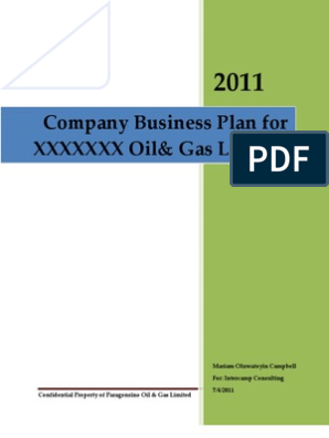 Business Plan Template for a Oil &