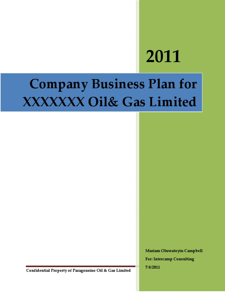 Transportation company business plan