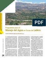 Propuestas para el manejo del Agua en Zonas de Ladera