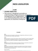 Business Legislation Final