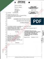 ANSWER OF AEG LIVE LLC; ANSCHUTZ ENTERTAINMENT INC; BRANDON PHILLIP; PAUL GONGAWARE; TIMOTHY LEIWEKE TO THE UNVERIFIED COMPLAINT