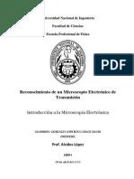Reconocimiento de Un Microscopio Electrónico de Transmisión -  Carlos David Gonzales Lorenzo