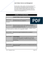 SLM ITSM Tool Assessment