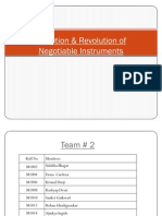 Evolution & Revolution of Negotiable Instruments