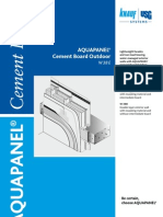 AQUAPANEL Cement Board Outdoor W38