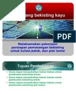 11.2.Malaksanakan Pekerjaan Persiapan Pemasangan Bekisting Untuk Balok Dan Plat Lantai