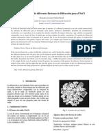 Indexación de diferentes Patrones de Difracción para el NaCl-