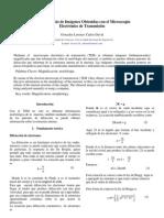 Análisis de Imágenes Obtenidas con el Microscopio Electrónico de Transmisión-  Carlos David Gonzales Lorenzo