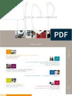 Plaquette université de Cergy-Pontoise