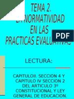 La Normatividad en Las Practicas Evaluativas
