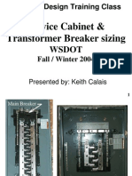 Service Cabinet and Transformer Breaker Sizing 1082004