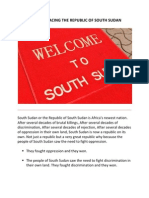 CHALLENGES FACING THE REPUBLIC OF SOUTH SUDAN