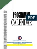 Programme Calender 2010-11