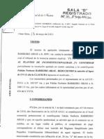 """CNAPE, Sala """"B"""", """"BARREIRO ARIAS FABIAN NORBERTO s/infracción ley 11.683"""", (reg. 264/2011 -13/5/2011-)."""