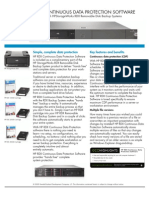HP RDX Continuous Data Protection Software Product Sheet