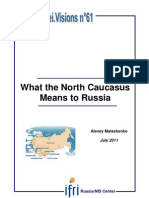 What the North Caucasus means to Russia