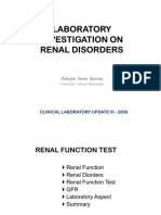 Laboratory Investigation on Renal Handout)