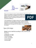 Budgetory Control