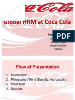 Global HRM at Coca-Cola