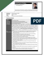 CV Professional Format