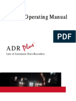 ADR Plus Operating Manual