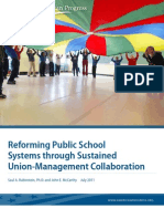 Reforming Public School Systems Through Sustained Union-Management Collaboration