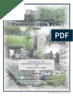 Amsterdam City Comprehensive Plan