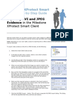 Exporting AVI and JPEG Evidence in the Smart Client