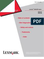 Service Manual - Lexmark 4600 MFP